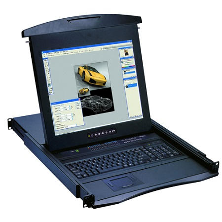 """96KVM-R19V1C-EU 1U 1P KVM 19""""LCD KB(USA EN)+TPAD+E"""