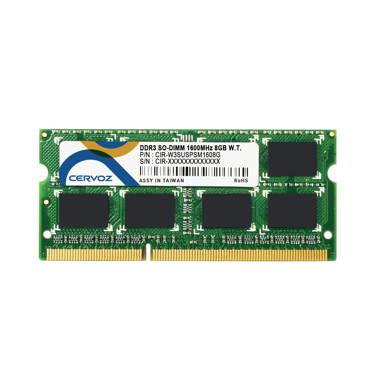8GB Industrial DDR3 SO-DIMM 1600MHz