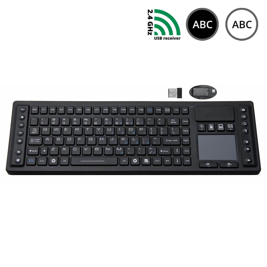 SK310-WL - silikonová bezdrátová klávesnice