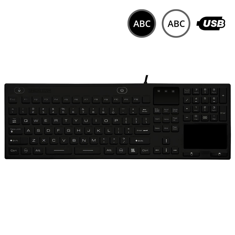 SK314 - silikonová klávesnice s touchpadem, CZ