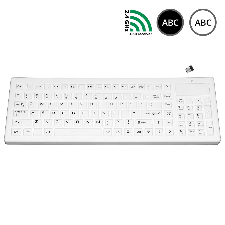 SK320-WL - silikonová bezdrátová klávesnice